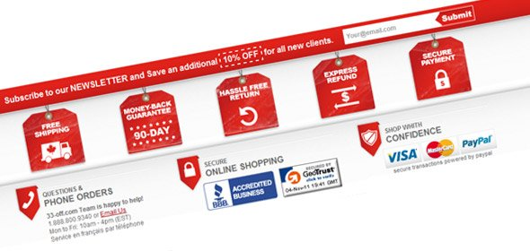 People spending money online need to know at a glance that their transaction will be secure and safe.